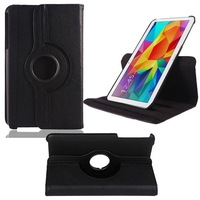100Pcs/Lot 10 Colors 360 Rotating Flip PU Leather Case Stand Cover for Samsung Galaxy Tab 4 8.0 T330 Tablet