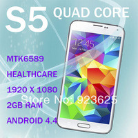 "New Best Android 4.4 Phone Quad Core S5 Android i9600 MTK6589 SIZE 142x72.5x8.1mm  5.1""IPS Screen RAM 2GB 13.1MP Camera"