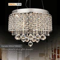 (Dia 40cm) E14,110v-240v,Fashion Crystal Pendant Lamp,Modern Lighting With 6 Lights Pendant Lamps for Bedroom Dining Room Home