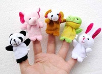 10pcs/set animals finger puppets baby plush toys finger doll free shipping