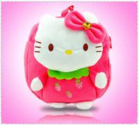 2014 Hot Sale Seconds Kill Freeshipping Softback Character Cartoon Hello Kitty Bags Children Backpacks Kids Backpack Kid Bag