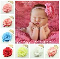 2015 new lovely baby & kids headband lace peony big flower girls headbands Toddler headwear children hair accessories