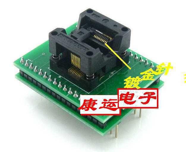 Gold plated test block adapter ssop20 34 tssop20 socket ic tester seat adapter chip programmer(China (Mainland))