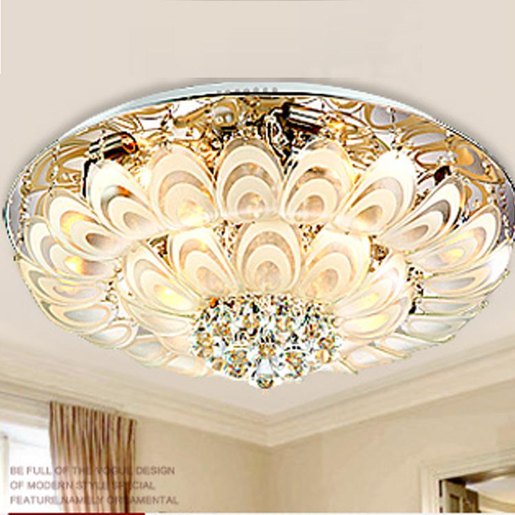 "Diamond crystals modern led home lamp 80cm/31.5"" big crystal ceiling lamps hanging light livingroom hotel bedroom ceiling lights(China (Mainland))"