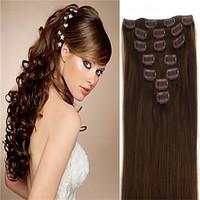 cheap brazilian virgin hair 100% Human hair care for hair Clip in Human hair extension  Darkest 7PCS queen hair products bundles