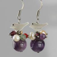 Amethyst exaggerated earrings women fashion ol crystal earrings national trend handmade gift