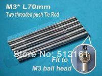 M3 * L70mm Metal Ball Tie rod (3PCS) Servo Tie Rod two threaded push Tie Rod