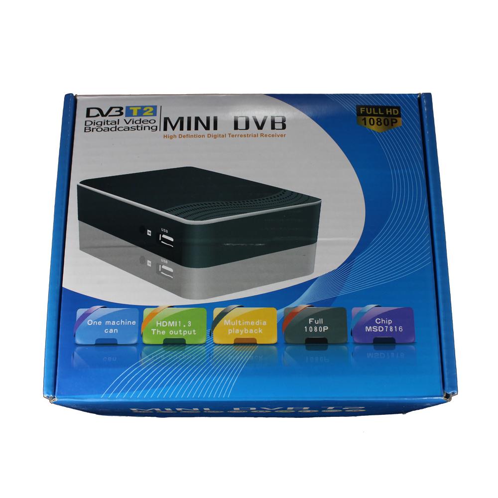 HD Mini DVB-T2 receiver support dvb t tuner mpeg-4 Original MSD7816 black(China (Mainland))