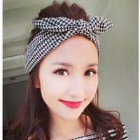 New 2014 Fahion Korean Accessories Rabbit Ear Twist Wire Bow Ribbon Chiffon Headband Jewelry Hair Band For Hair 3 Colors