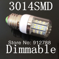 Support Dimmable E27 7W SMD3014 LED Corn Light  Warm White/White AC 85-265V with 360 degree corn bulb x10pcs