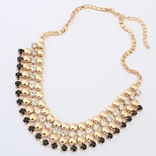 2014 Fashion summer star rhinestone beads choker necklace  jewelry statement necklace for women 2014