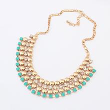 2014 Fashion summer star rhinestone beads choker necklace jewelry statement necklace for women 2014