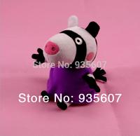 Zoe zebra 20CM 8pcs/set hot sale  Peppa George Pig friends family Plush Toy Set Peppa Pig  Stuffed Animals Dolls baby toys pepa