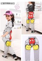 Kids girls clothing sets children's suit shirt+pants 2pcs autumn models girls sweater suit new Mickey sports wholesale 1lot=5pic