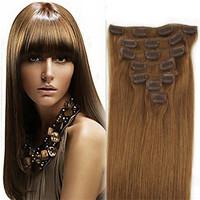 Straight Brazilian Virgin Hair Remy Clip in Human Hair Extension  7pcs per set Free Shipping dread extensions fake hair