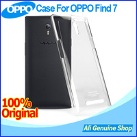 In Stock! 100% Original Clear Case for Oppo find 7, OPPO Find 7 3GB RAM 4G LTE 5.5inch 2560X1440 Phone Case + Gifts