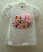 Free shipping  Wholesale 2014 new  Baby  Cotton T-shirt b2w2 baby Kitty with  Color Sphere T-Shirt  5pcs\lot