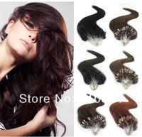 "Free Shipping 22""/55cm 100Pcs 50g Remy Micro Ring Loop Human Hair Extension 100% Brazilian Virgin Hair micro loop hair extension"