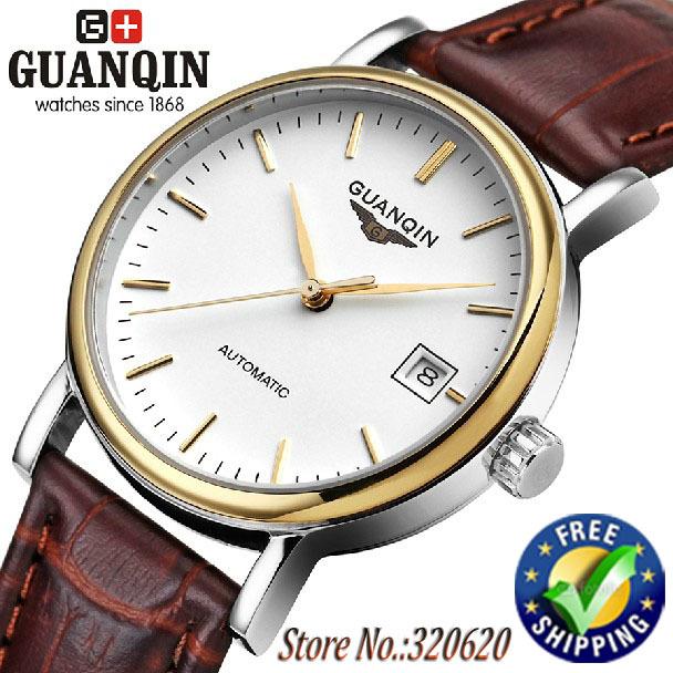 Original GUANQIN Luxury Watches men automatic ultrathin sapphire Waterproof brand watch men Wristwatches(GQ10026)(China (Mainland))
