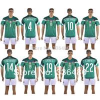 New arrival 14/15 mexico home green thai quality soccer jersey+ shorts kits,marquez dos santos chicharito mexico soccer uniforms