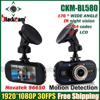 "2.7"" BL580 Novatek 96650 Full HD 1080P Car DVR Camera Recorder IR Night Vision WDR DVR 170 G-sensor Motion Detection G-Sensor"