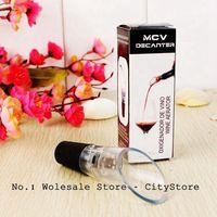 Wholesale 10pcs/lot MCV Wine Aerator Wine Decanter Pour Spout Bottle Stopper Decanter Pourer Aerating (Retail box package)