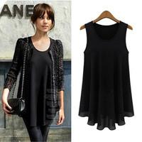 Spring New 2014 Fashion Women Summer Chiffon Tank Dress Sleeveless Casual Dresses Plus Size Women Clothing DD038