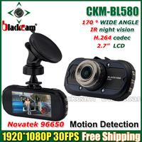 Original CKM-BL580 Car Vehicle Black Box Camera Recorder DVR NOVATEK Chipset 1080P 2.7' LCD 170 Degree Lens G-Sensor BL580