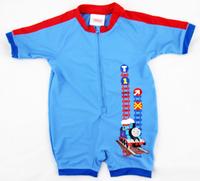 Hot Sell Nylon/Spandex Baby Kids On Piece Surf Boys Swimwear Rash Guards Kids Bathing Suit Size2/3/3X