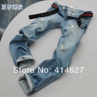 2014 New Fashion Men's Designer Jeans Famous Brand,Cotton Denim Straight Black Jeans Men Brand,Man Trousers Plus Size 28-38