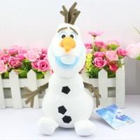New Arrival 10pcs/lot 10inch 25cm Cartoon Movie Snowman Olaf Plush Toy Olaf plush Toys Doll Free Shipping