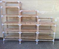 quality goods,YJJ-543 The original wood multifunctional shelf, shoe rack, flower shelf, Six tiers of storage