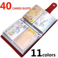 Genuine Leather Cardholder Business Credit ID Checkbook Card Holder Case Wallet Cover For Women Men Protector Slot Bag Hasp 40