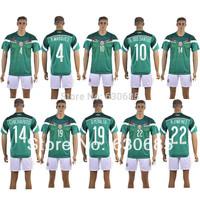 New arrival 14/15 mexico home green thai quality soccer jersey+ shorts kits,peralta dos santos chicharito mexico soccer uniforms