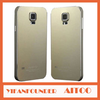 For SAMSUNG GALAXY S5 i9600 Titanium Aluminum Case Luxury Aviation Metal Cover With Uiltr Thin Body Screwless Skin Free Gift