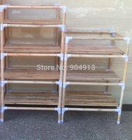 quality goods,YJJ-43 The original wood multifunctional shelf, shoe rack, flower shelf, Six tiers of storage