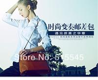 Classic brief wax leather bag handbag cross-body womens messenger bag