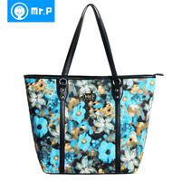 Mr . p2013 women's print bags fashion shoulder bag fashion handbag vintage oil painting big bag