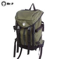 Mr.p high quality rivet male fashion backpack fashion backpack female large capacity sports bag laptop bag aw