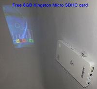 Wireless WiFi iOS Android DLP Mini Projector 50 Lumens Free 8GB Micro SDHC Card