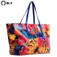 2013 women's handbag flower card fashion shoulder bag handbag large print casual bags
