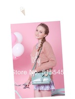 Womens handbag vintage shoulder bag sweet gentlewomen bow cowhide woman messenger bag