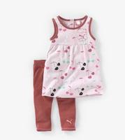 now 2014 children girl sport clothing set dress + pants suits kids tracksuit