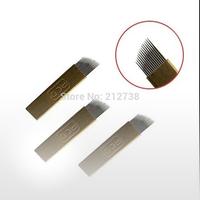 High Quality  Free Shipping 100pcs Permanent Makeup Manual Needle blades-PCD