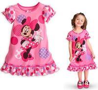 2014 Free shipping Hot Sale Cartoon Kid's dress Children's dress  very cute 4pc/lot  JKD423.2