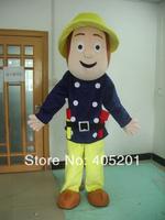 POLYFOAM high quality cartoon mascot costume fireman sam mascot costumes new adult worker mascot costumes fireman mascot costume
