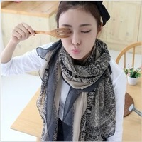2014 New Fashion Voile new fashion elegant lady scarf  deer pattern fawn women shawls