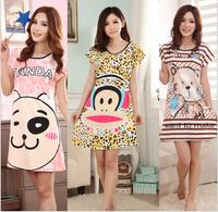 [alice] Direct Selling None Satin 2014 New Women's Short-sleeve Cartoon Pure Cotton Sleepwear , Ladies Summer Pajamas ,6 Models