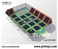 2014 new trampoline park with ball pool,kids combination jumping trampoline,sport fitness trampoline