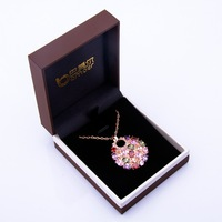 Bamoer High Quality Brown Gift Box  for Necklace Luxury Jewelry Packaging BZ0018